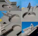 P-40E/N wheel wells with canvas (for Hasegawa kit)
